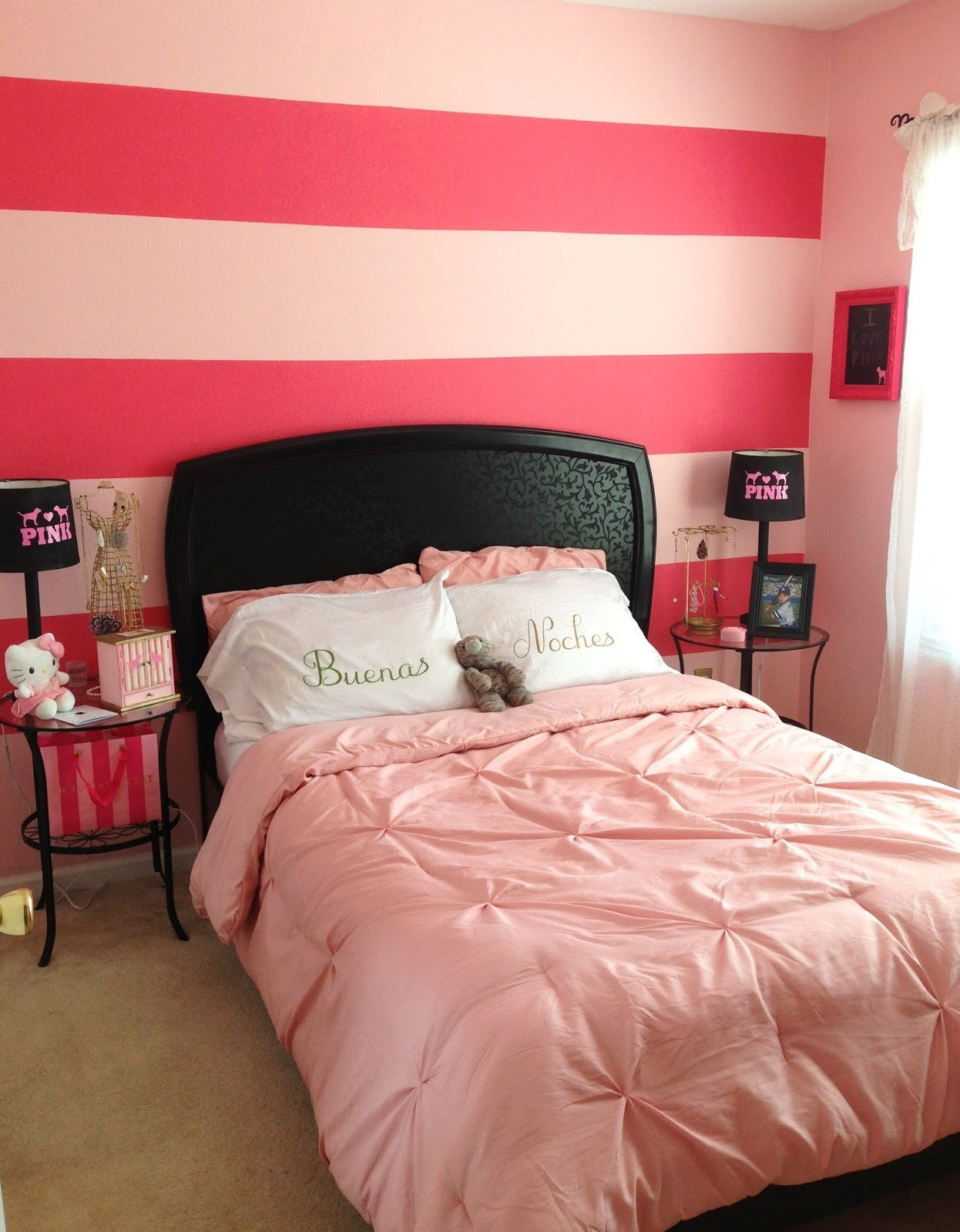 Best Craft Room Secrets Victoria S Secret Pink Inspired Bedroom With Pictures
