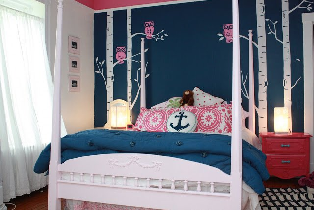 Best Makeover The Navy And Pink T**N Bedroom My Old Country With Pictures