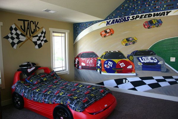 Best Race Car Bedroom Boy Decorating Idea With Pictures