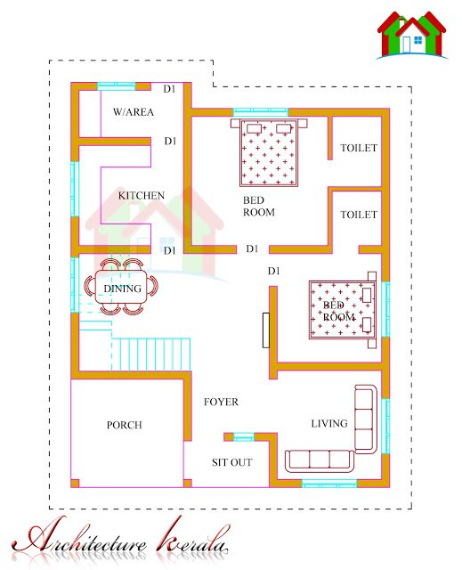 Best 1500 Square Feet Kerala House Plan Architecture Kerala With Pictures