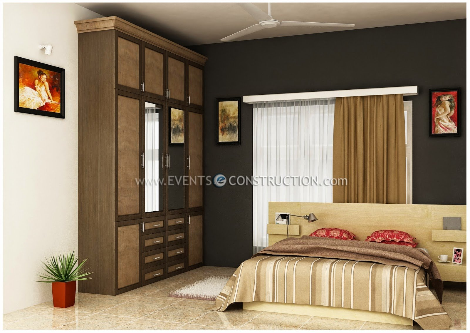 Best Evens Construction Pvt Ltd Modern Kerala Bedroom Interior With Pictures