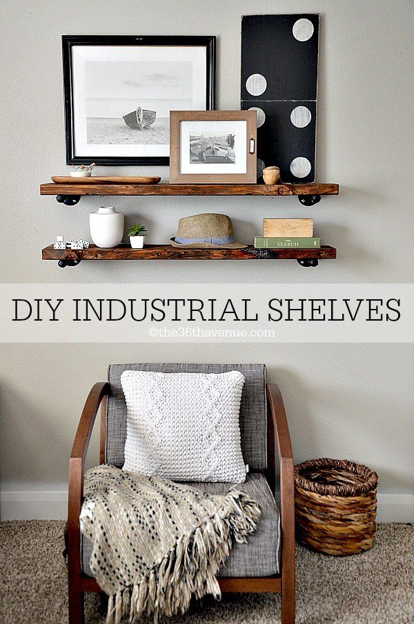 Best Diy Industrial Shelves The 36Th Avenue With Pictures
