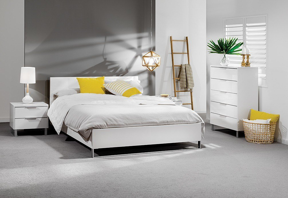 Best Ice 4 Piece Tall Chest Queen Bedroom Suite With Pictures