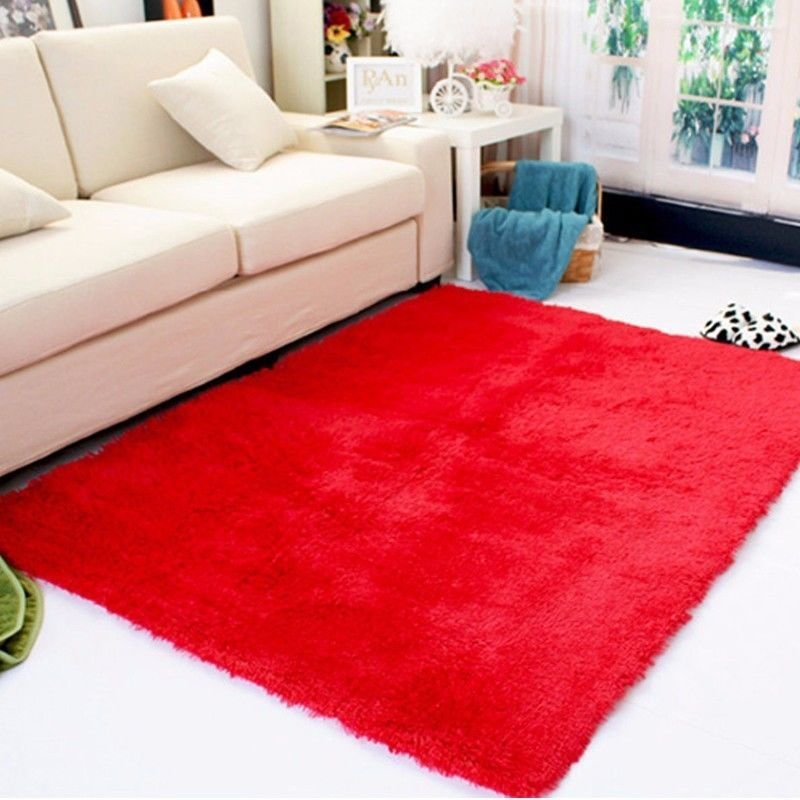 Best Rectangle Soft Fluffy Rug Anti Skid Shaggy Study Room With Pictures