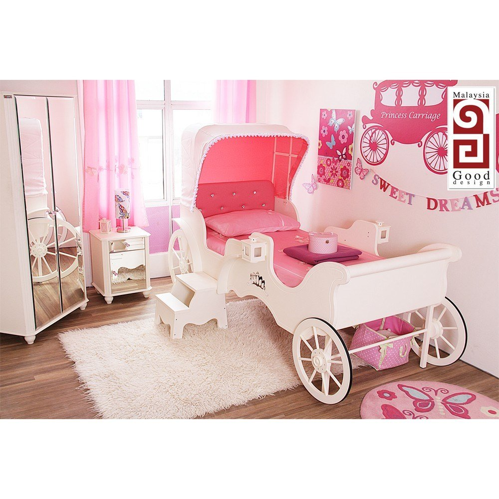 Best Princess Carriage Bed 3 Pieces Bedroom Set With Pictures