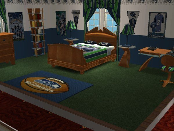 Best Mod The Sims Seattle Seahawks Football Bedroom Requested With Pictures