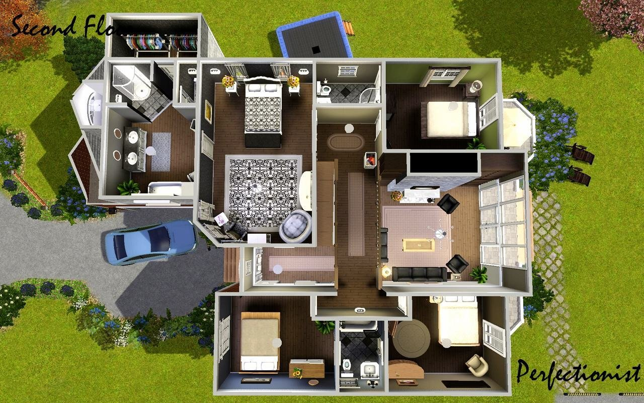 Best Mod The Sims 5 Bedroom European Style House Ts3 With Pictures