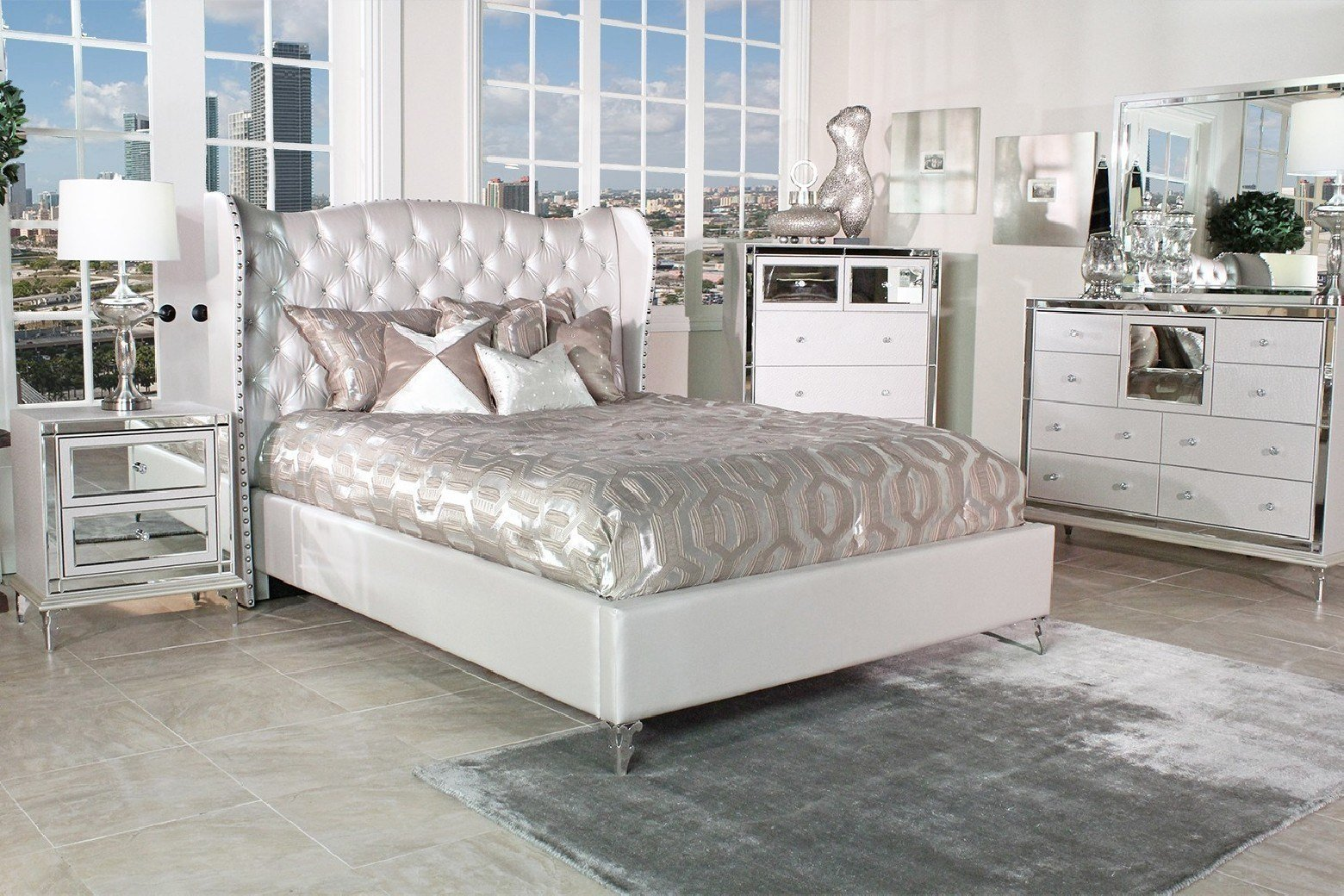 Best Aico Hollywood Loft Bedroom Set Collection With With Pictures