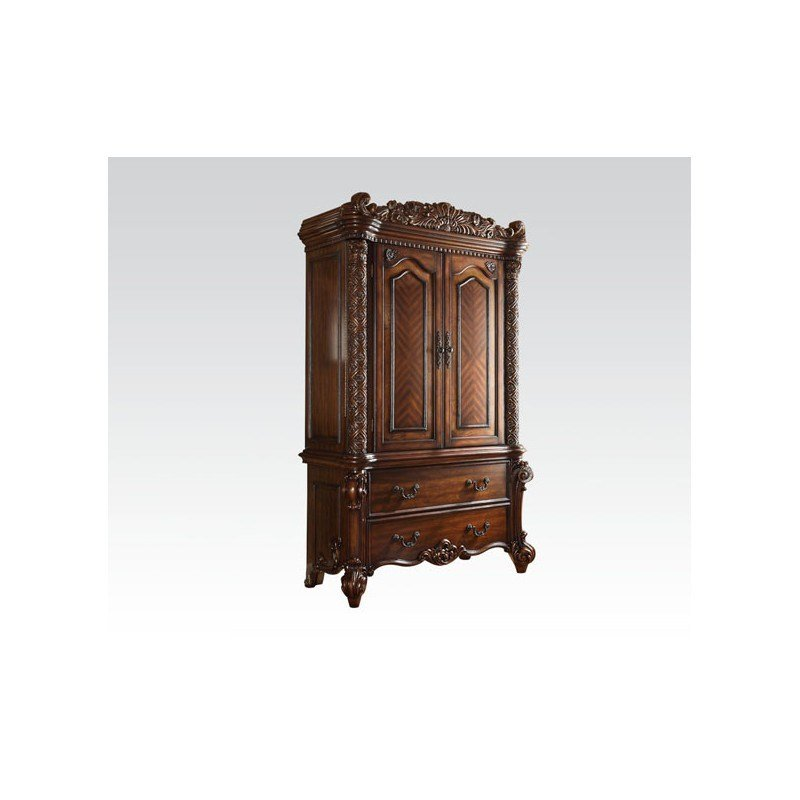 Best 22000 Acme Vendome Bedroom Set Cherry Collection With Pictures