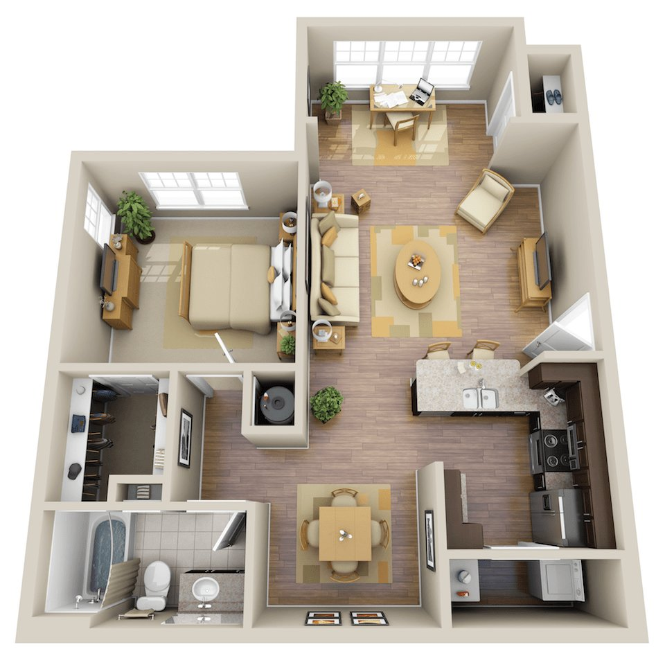 Best One Bedroom Apartment Homes The Summit At Nashville West With Pictures