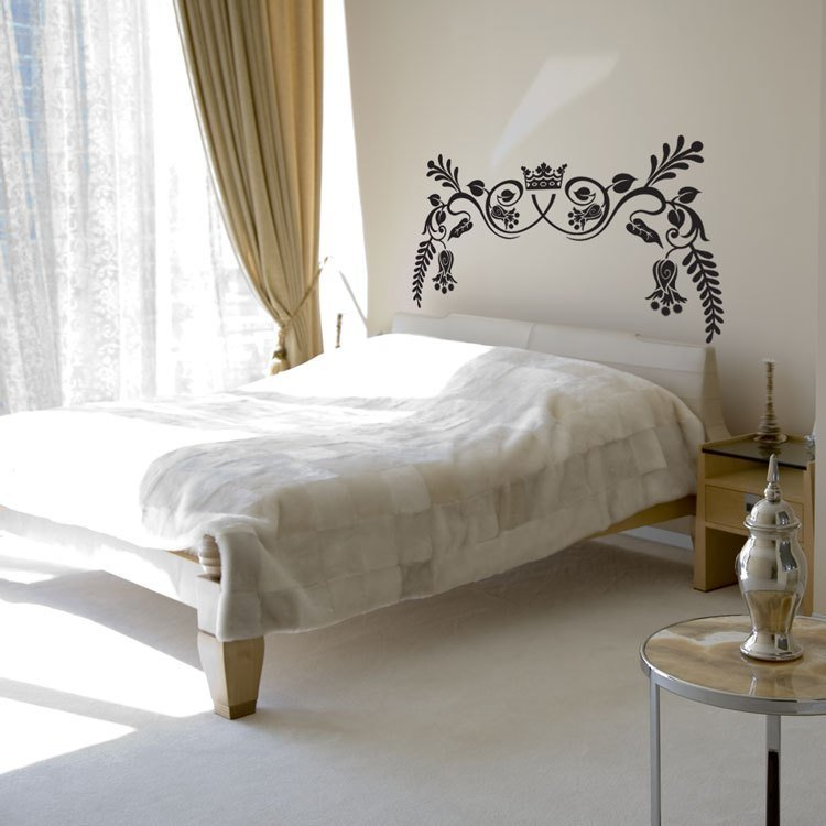 Best Royal Ornate Headboard Wall Decal Sticker Graphic With Pictures