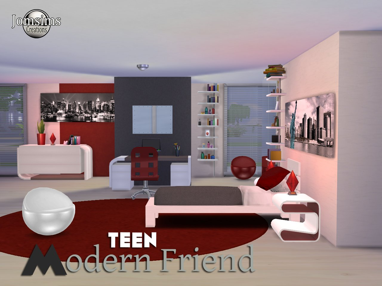 Best My Sims 4 Blog Modern Friend T**N Bedroom Set By Jomsims With Pictures