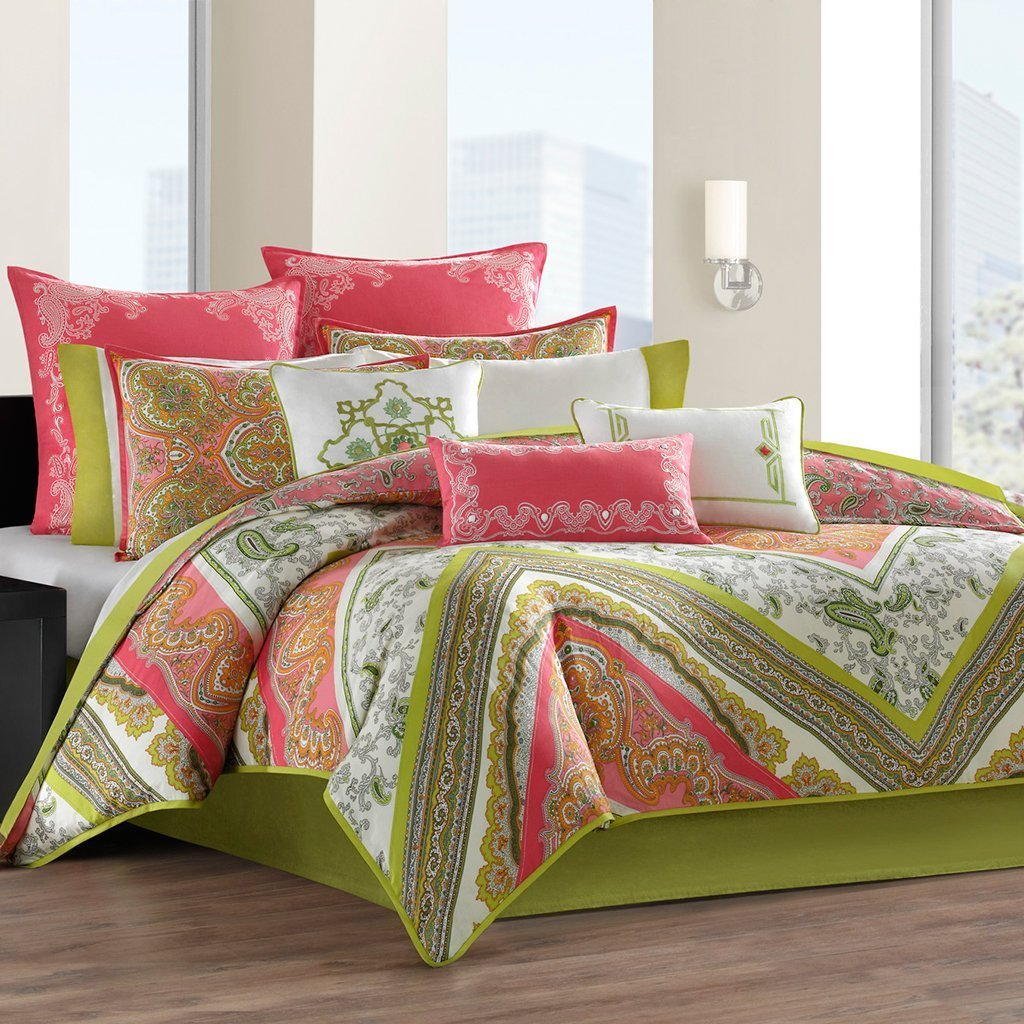 Best Coral Colored Comforter And Bedding Sets With Pictures