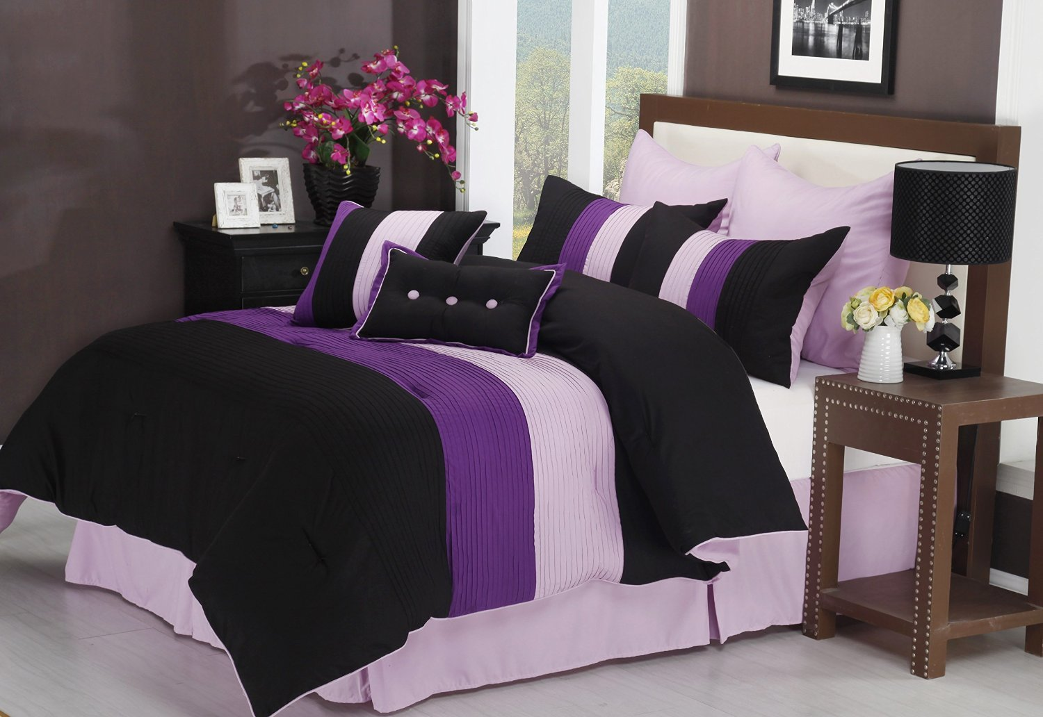 Best Purple Black And White Bedding Sets Drama Uplifted With Pictures