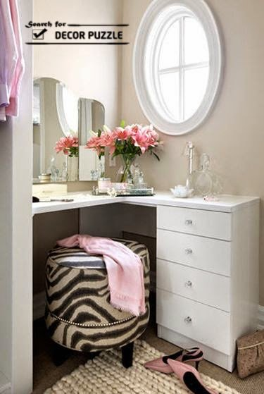 Best Unique Modern Corner Dressing Table Designs For Small Bedroom With Pictures