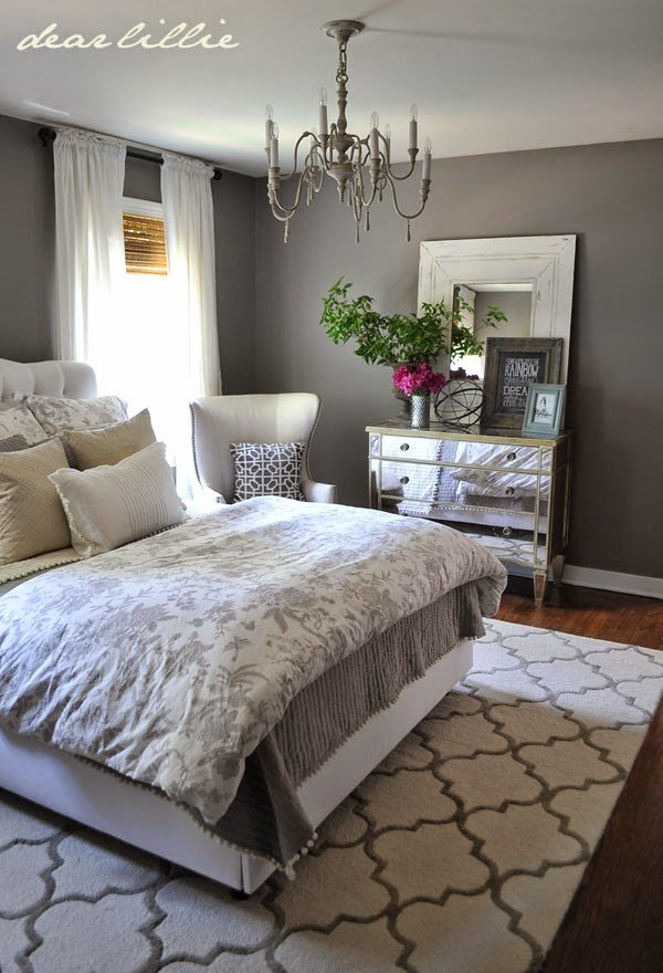 Best Dear Lillie Some Finishing Touches To Our Gray Guest Bedroom With Pictures
