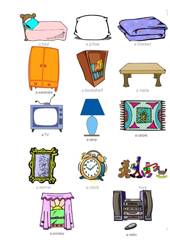 Best English At Ntra Sra De La Antigua School Bedroom Objects With Pictures
