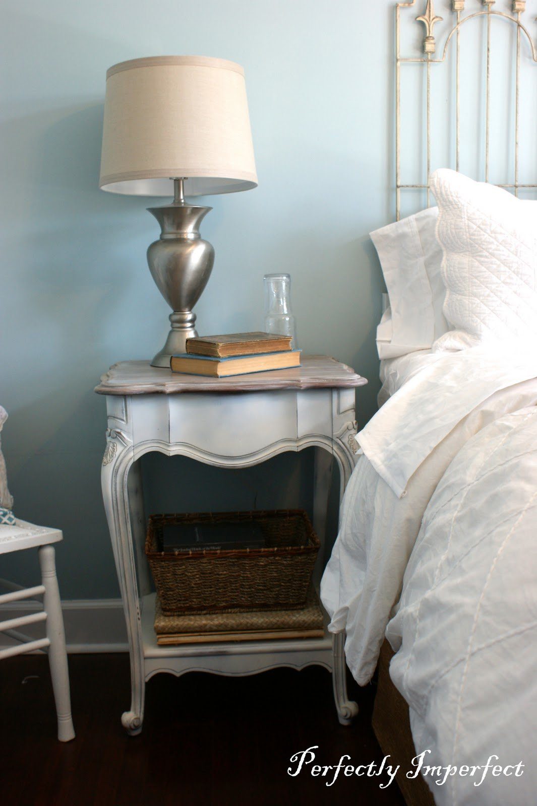 Best Guest Bedroom End Table Makeover Perfectly Imperfect™ Blog With Pictures
