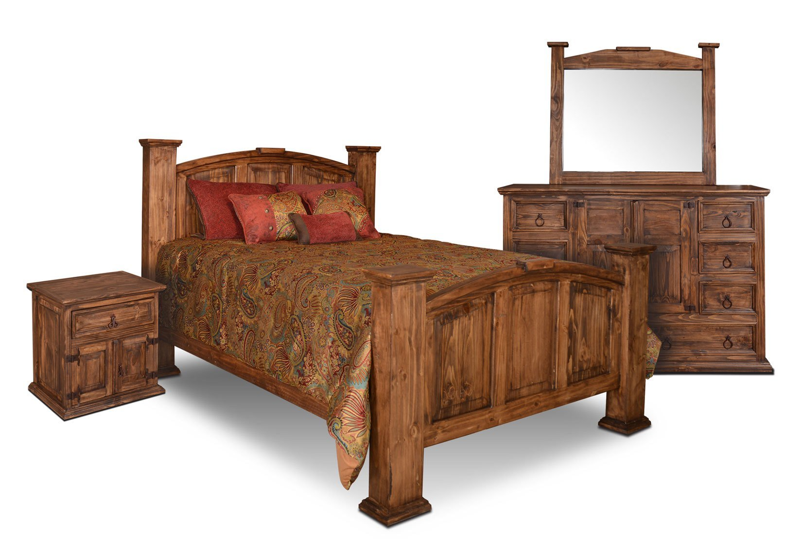 Best Rustic Bedroom Set Pine Wood Bedroom Set 4 Piece Bedroom Set With Pictures