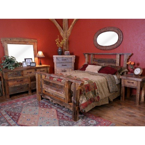 Best Wyoming Reclaimed Wood Bedroom Set With Pictures