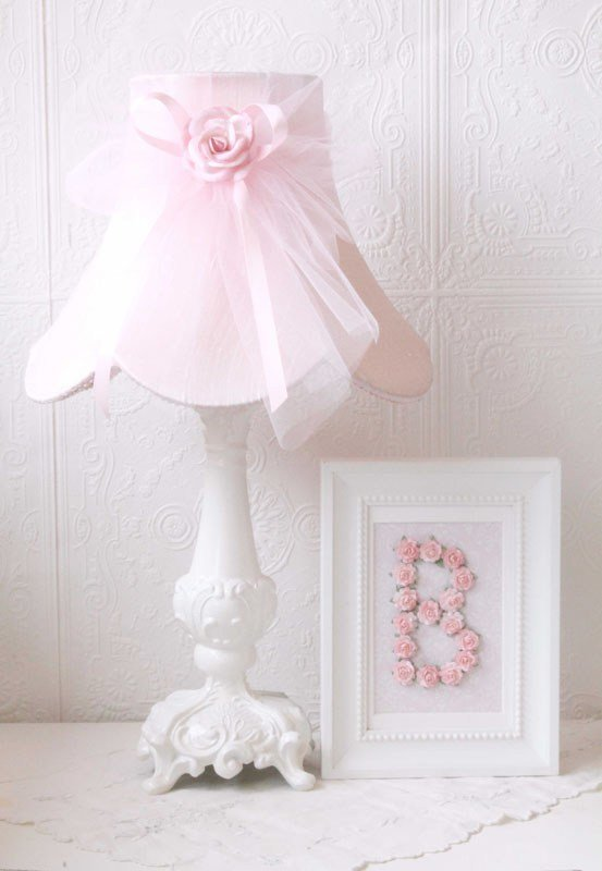 Best Pink Dupioni Silk And Tulle Table Lamp Rosenberryrooms Com With Pictures
