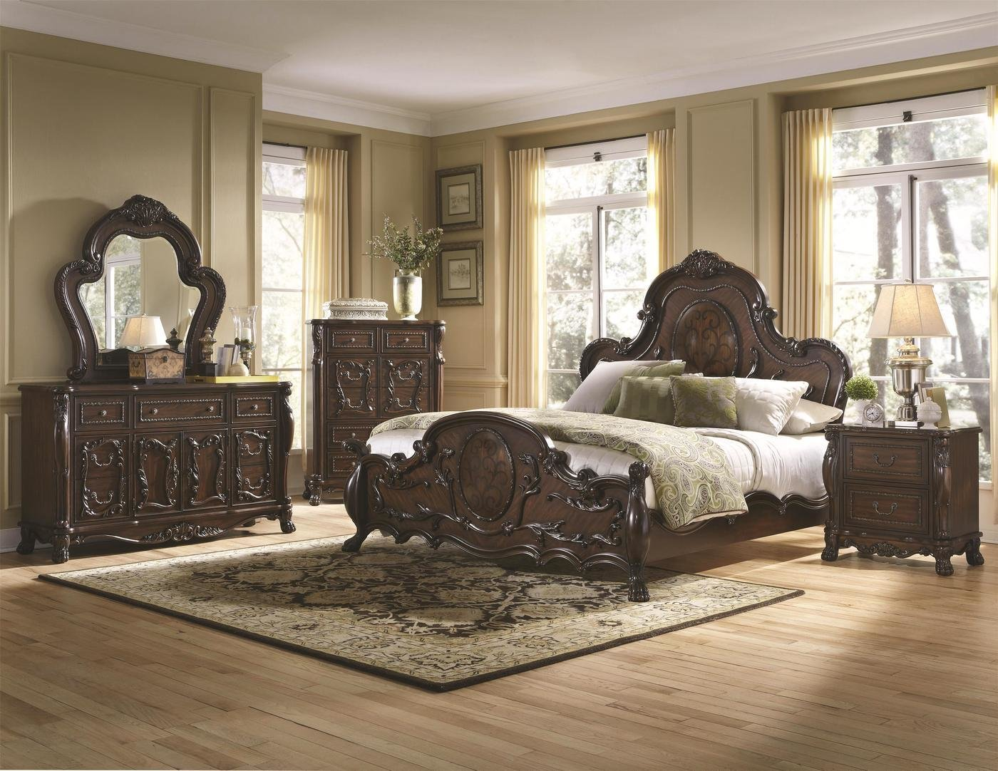 Best Antique Bedroom Set Cherry Bedroom Sets Shop Factory With Pictures