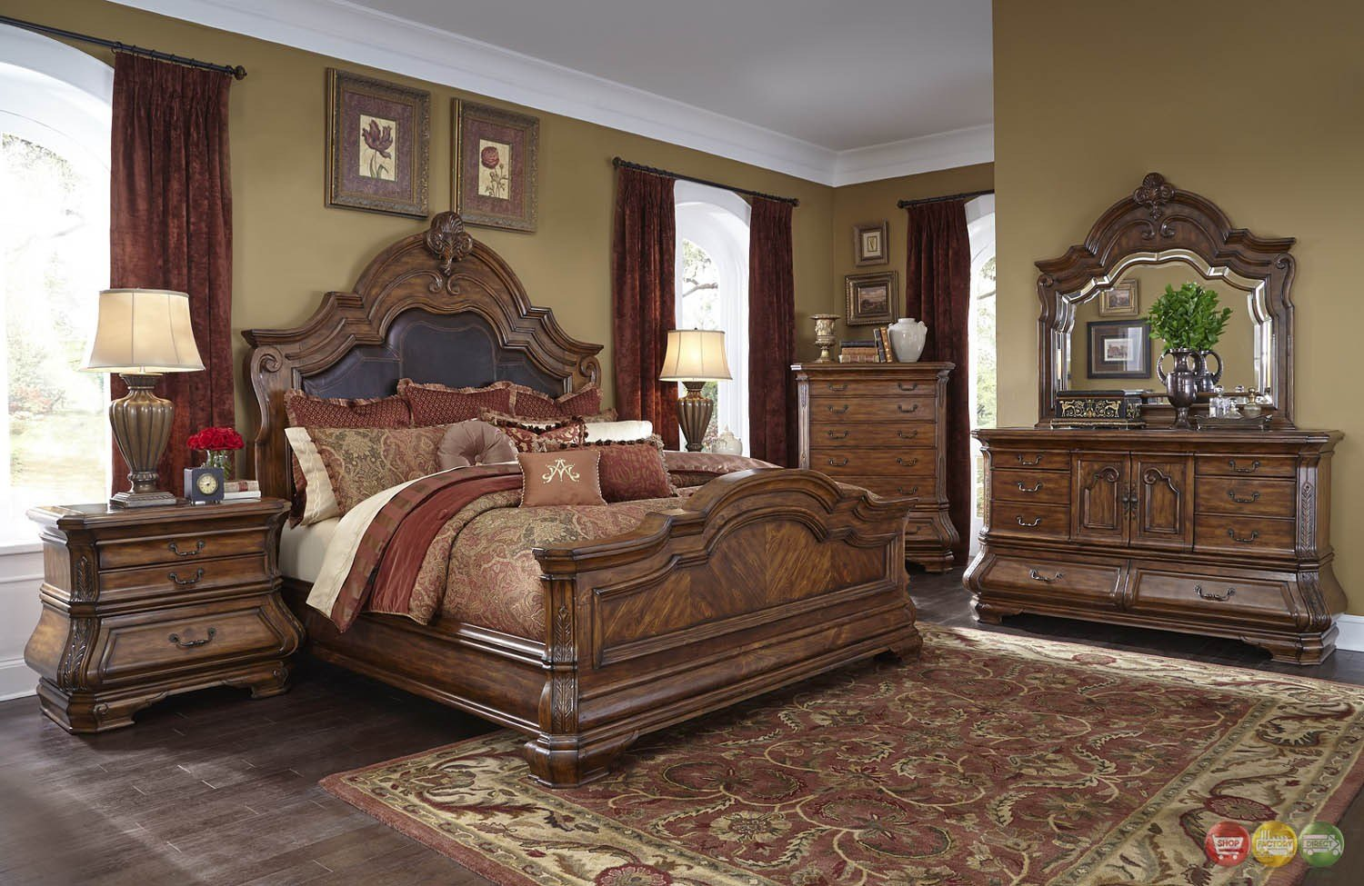 Best Michael Amini Tuscano Traditional Luxury Bedroom Set With Pictures
