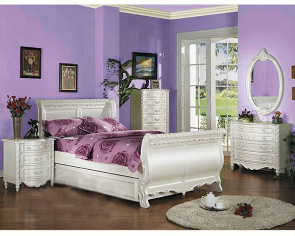 Best Acme Furniture Bedroom Set In Pearl White Ac01010Tset With Pictures