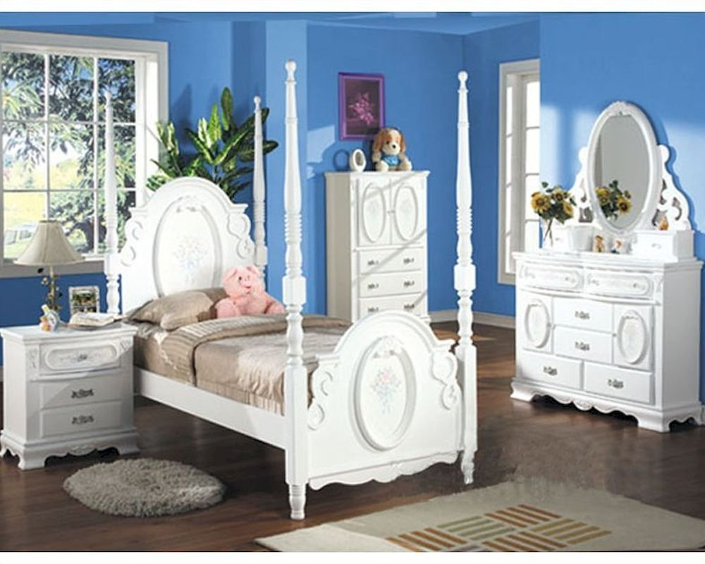 Best Acme Furniture Bedroom Set In White Ac01660Tset With Pictures