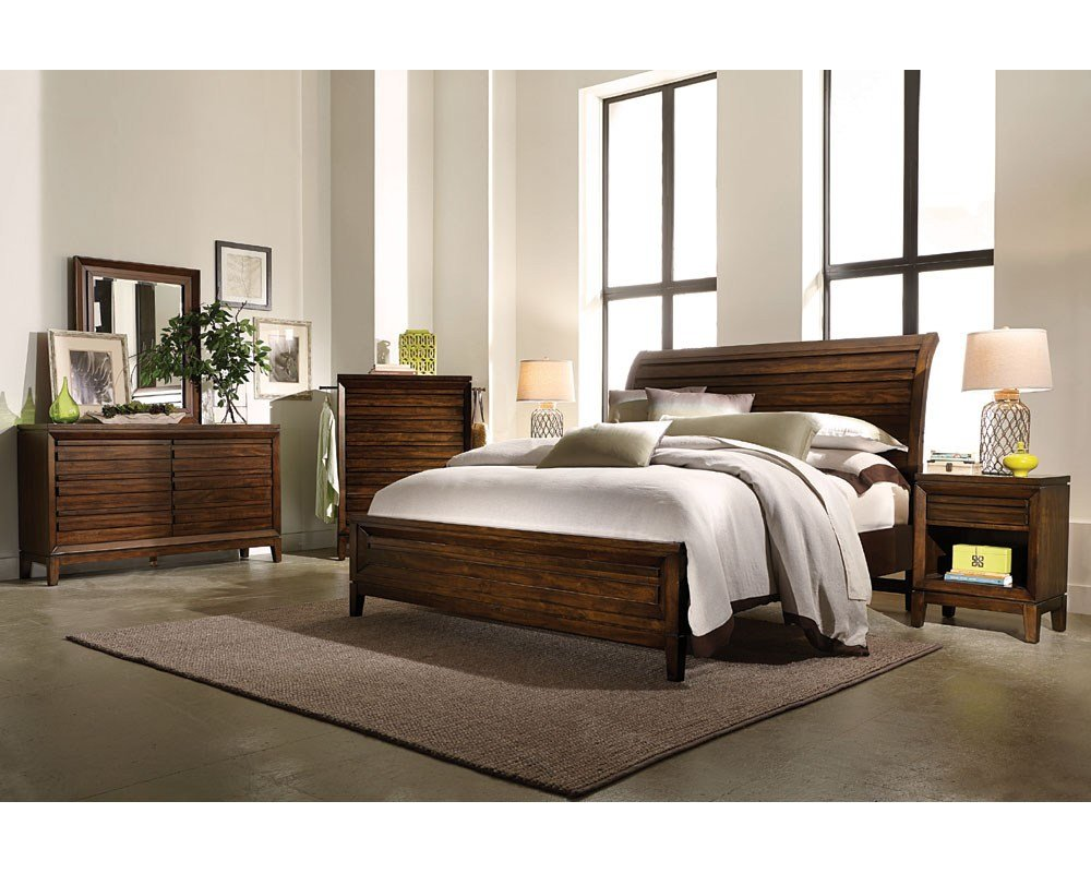 Best Aspenhome Bedroom Set W Sleigh Bed Walnut Park Asi05 400Set With Pictures