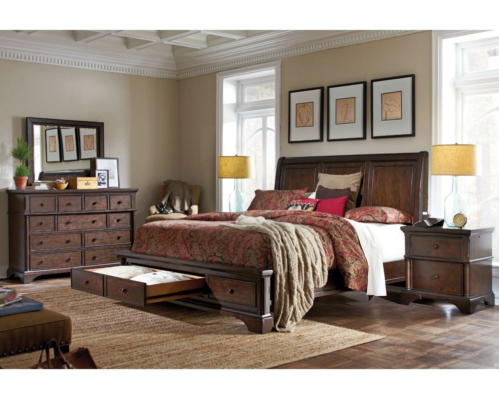 Best Aspenhome Bedroom Set W Sleigh Storage Bed Bancroft Asi08 400Sset With Pictures