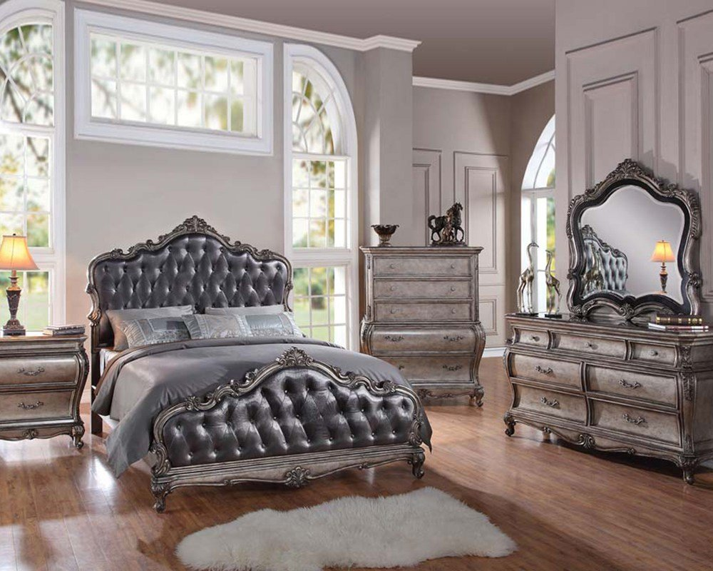 Best Classic Style Bedroom Set Chantelle By Acme Furniture Ac20540Set With Pictures
