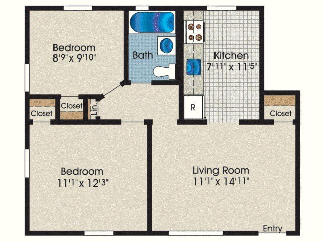 Best 600 Square Foot House 600 Sq Ft 2 Bedroom House Plans 600 Sq Ft Floor Plans Mexzhouse Com With Pictures