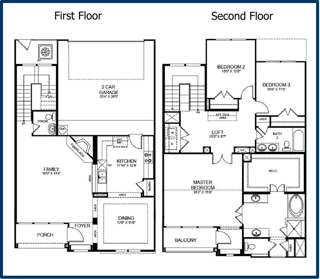 Best 2 Story 3 Bedroom Floor Plans 2 Story Master Bedroom With Pictures