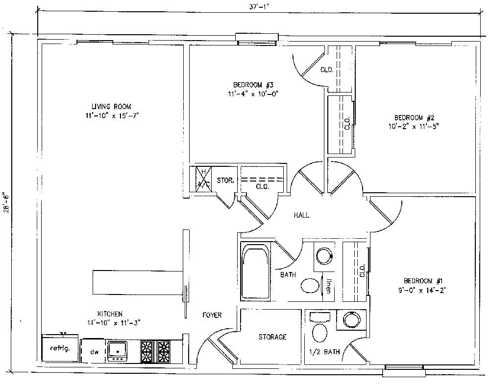 Best 1000 Square Foot House Plans 3 Bedroom 900 Square Foot With Pictures