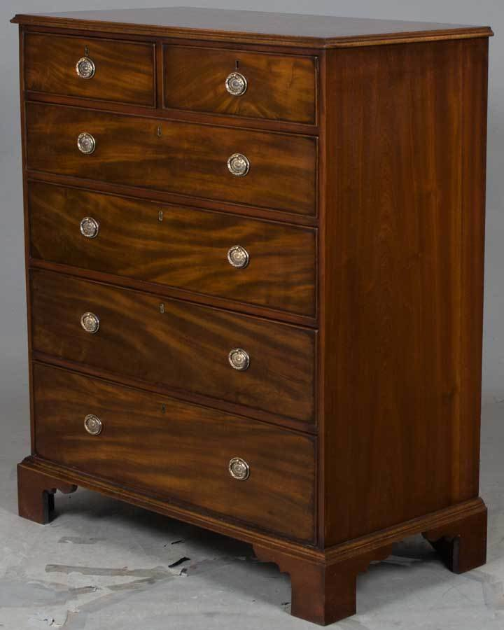 Best Large Antique Mahogany Chest Of Drawers Bedroom Dresser Tall Deep Drawers Ebay With Pictures