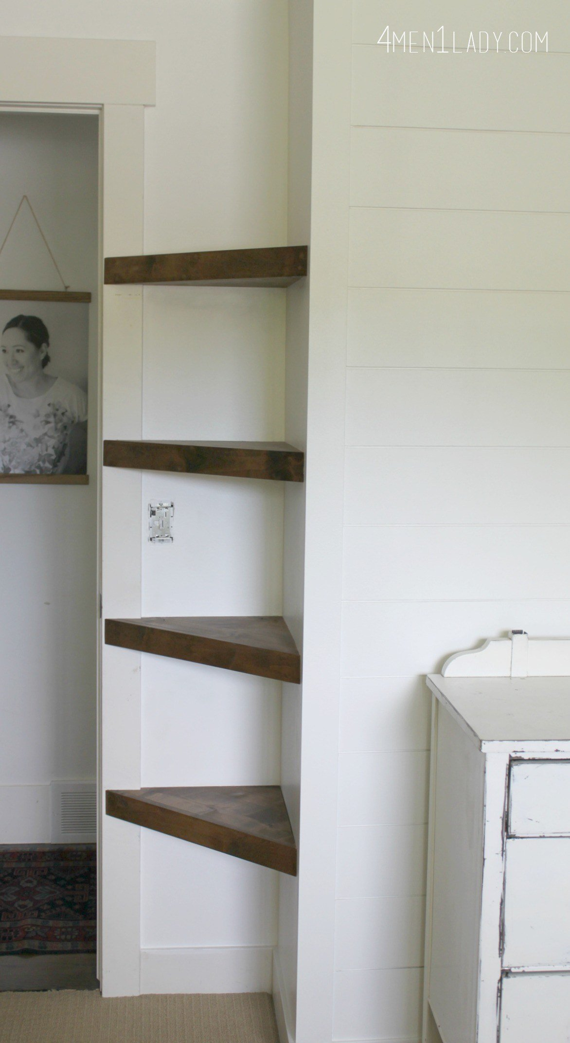 Best When Life Gives You Lemons…Make Corner Floating Shelves With Pictures