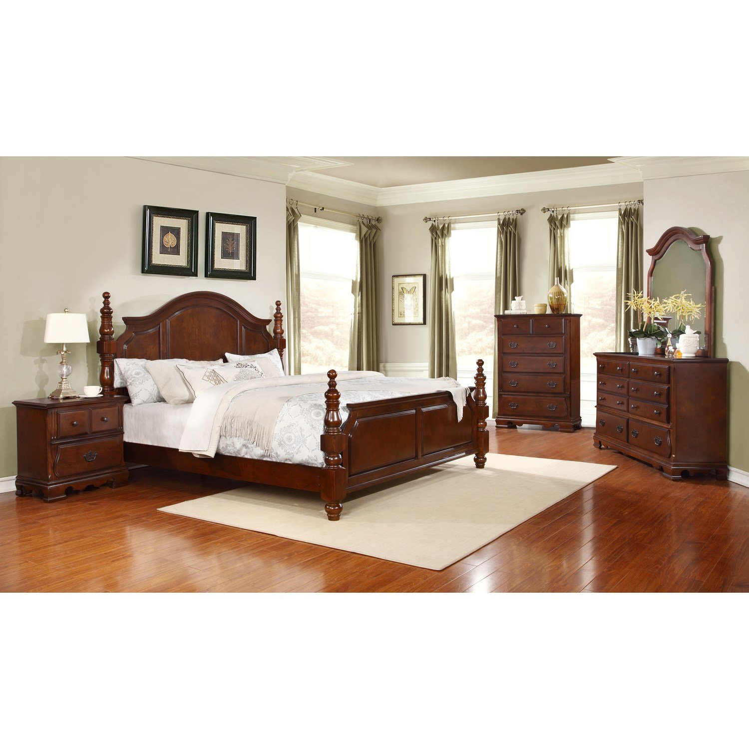 Best Cartago Brown Four Poster Bedroom Set King Size Bed Mirror With Pictures