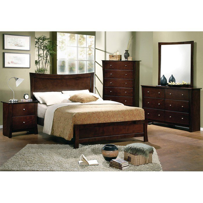 Best Milano Contemporary King Bedroom Set In Espresso Finish With Pictures