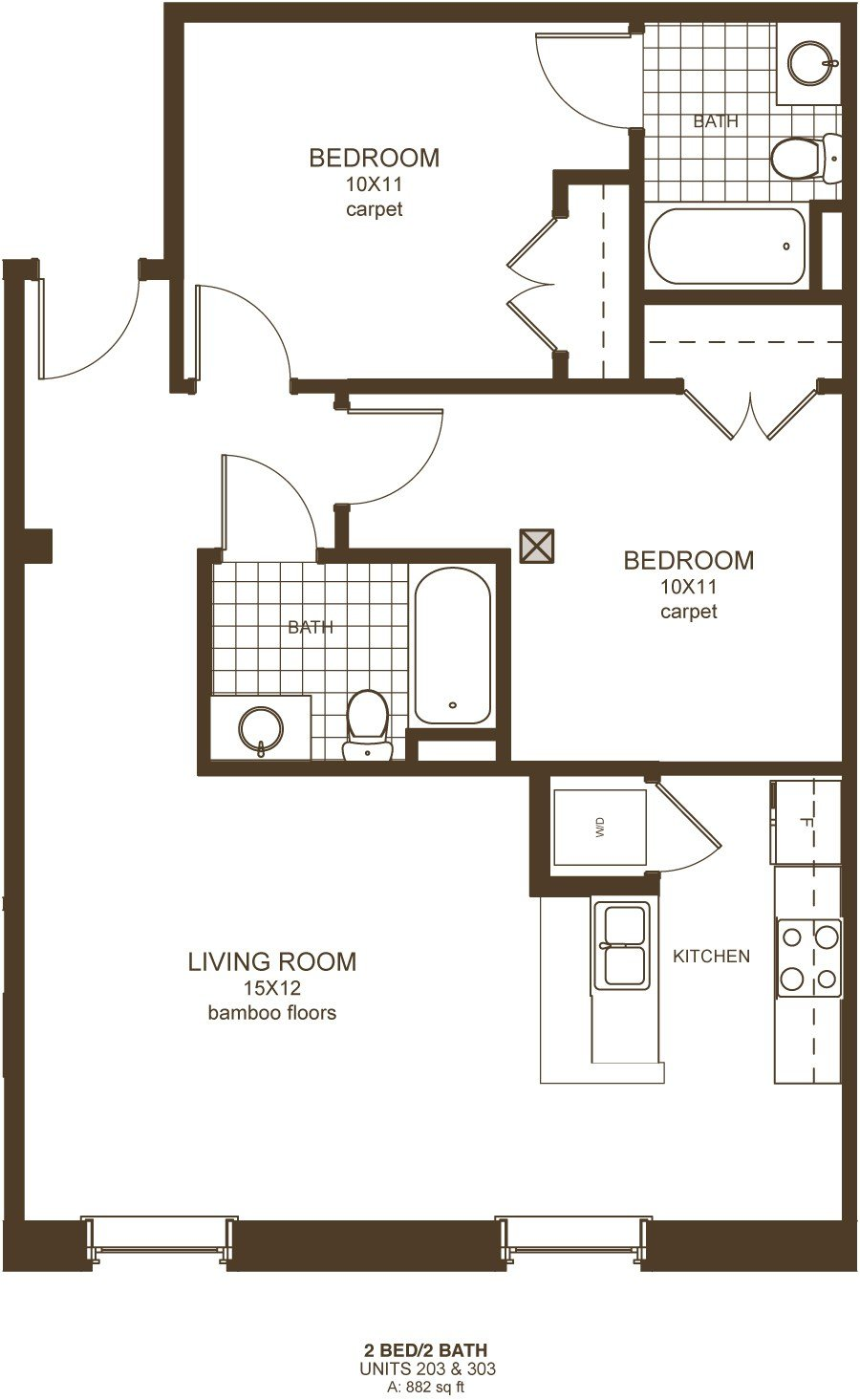 Best Downtown Richmond Va 2 Bedroom Apartments Floor Plans With Pictures