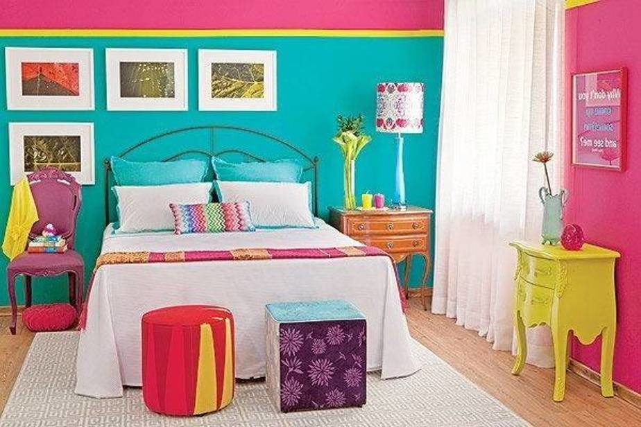 Best Bedroom Decorating With Colors Pink And Blue Walls Yellow With Pictures