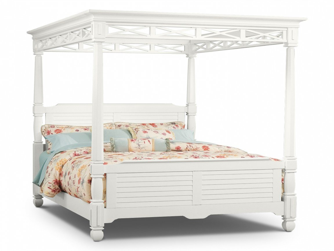 Best Bedrooms The Magnolia White Canopy Collection Queen Bed Bedroom Designs With Pictures