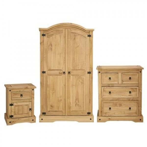 Best Corona Bedroom Trio Low Cost Furniture Direct With Pictures