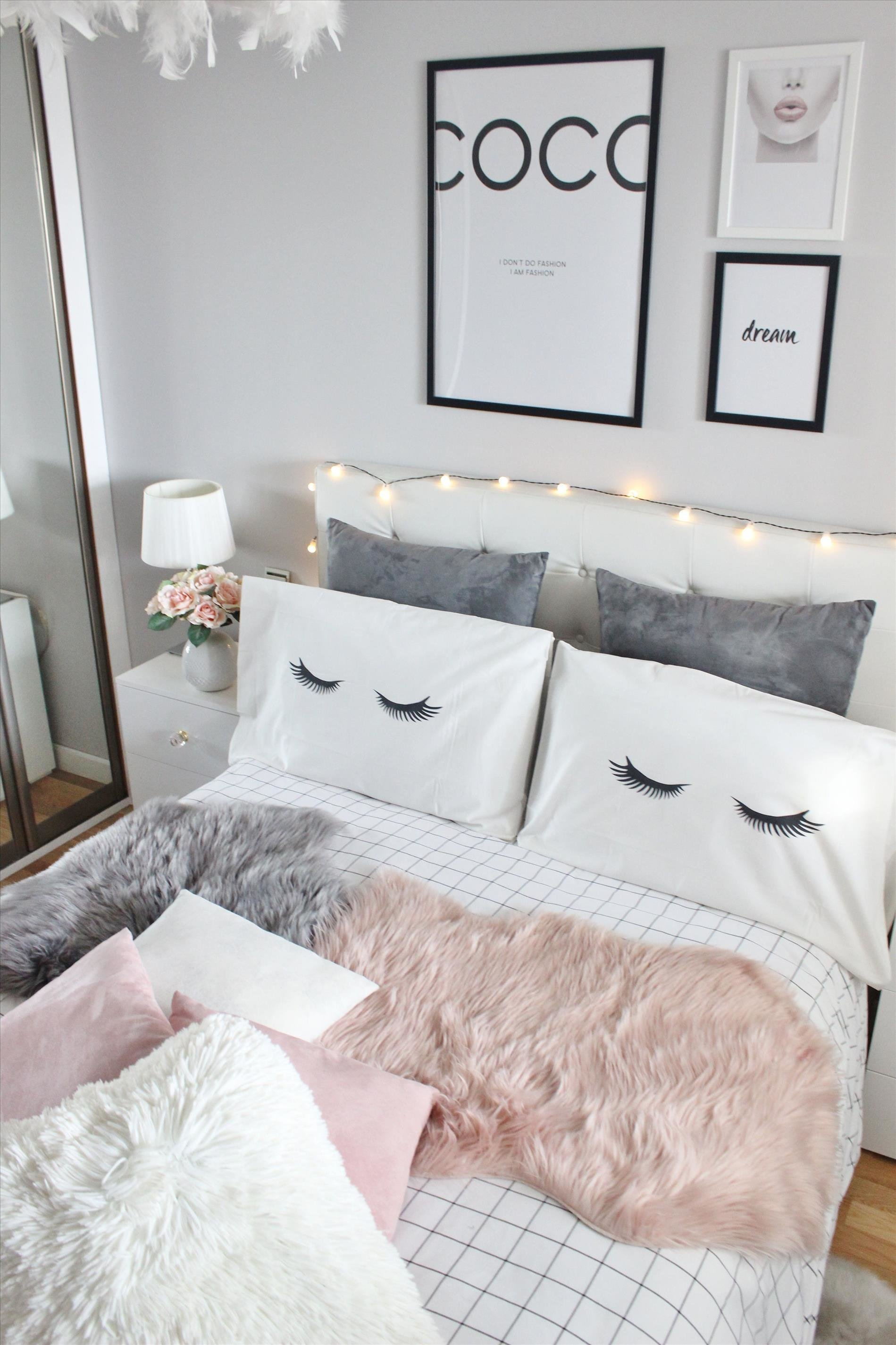 Best Bedroom Lighting Pink Fairy Lights Ceiling Tumblr String With Pictures