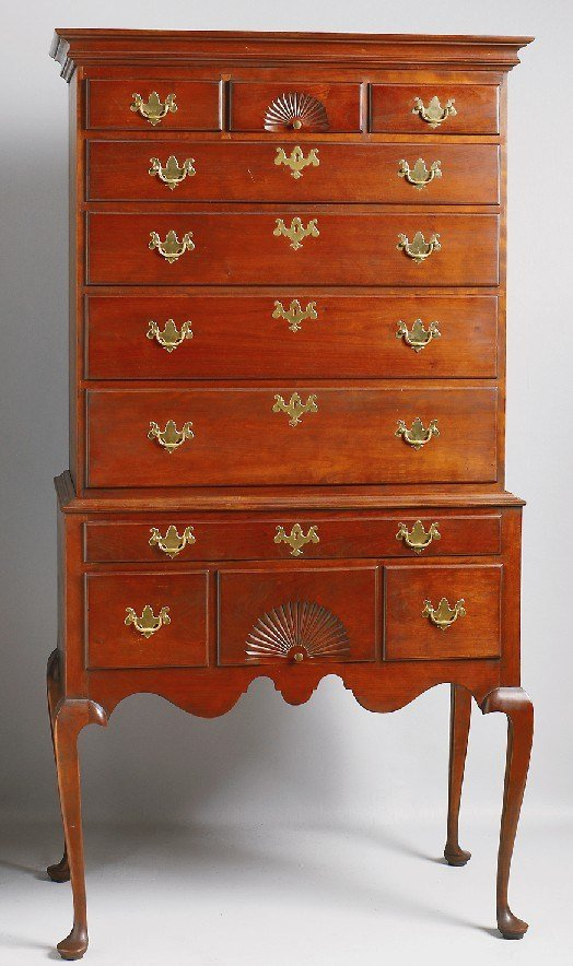 Best Furniture Highboy Queen Anne Style Cherry Eldred With Pictures