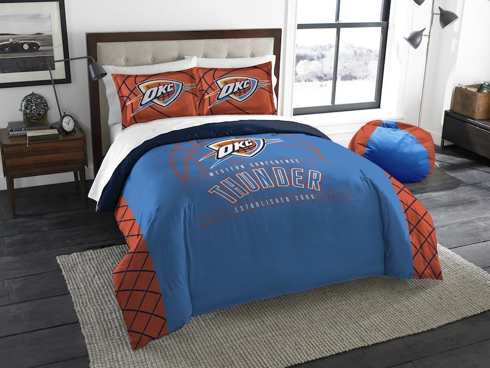 Best Nba Oklahoma City Thunder Queen Comforter With 2 Shams With Pictures