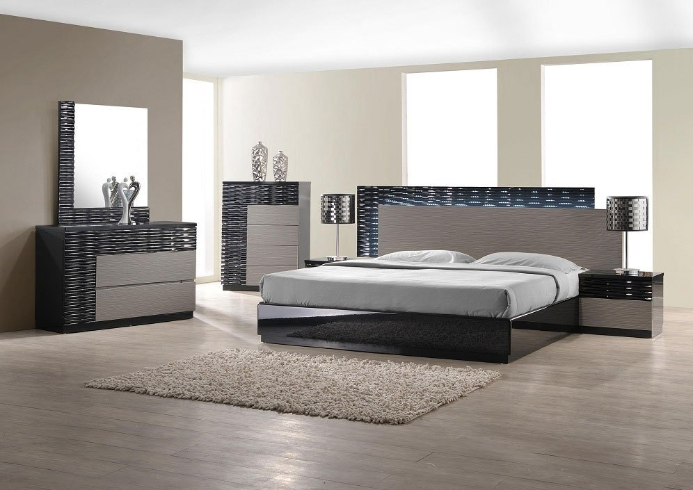 Best Modern Bedroom Set With Led Lighting System Modern With Pictures