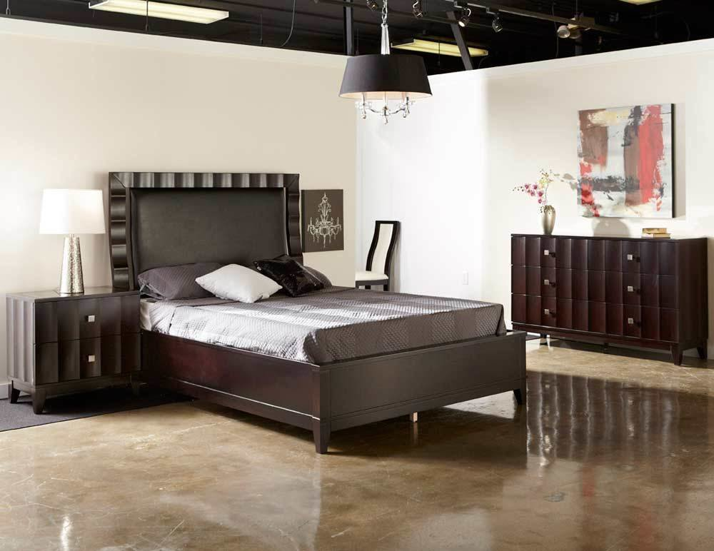 Best Modern Bed Collection Nj 12 In Brown Leatherette Modern Bedroom Furniture With Pictures