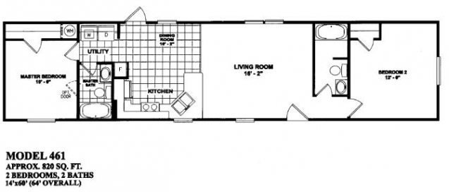 Best Great 2 Bedroom Mobile Home Floor Plans New Home Plans With Pictures