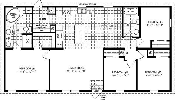 Best Beautiful 4 Bedroom Mobile Home Floor Plans New Home With Pictures